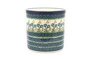 Ceramika Artystyczna Polish Pottery Utensil Holder - Blue Spring Daisy 003-614a (Ceramika Artystyczna)