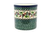 Ceramika Artystyczna Polish Pottery Utensil Holder - Burgundy Berry Green 003-1415a (Ceramika Artystyczna)