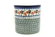 Ceramika Artystyczna Polish Pottery Utensil Holder - Cherry Blossom 003-2103a (Ceramika Artystyczna)