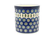 Ceramika Artystyczna Polish Pottery Utensil Holder - Peacock 003-054a (Ceramika Artystyczna)