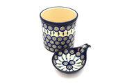 Ceramika Artystyczna Polish Pottery Utensil Holder Set - Peacock S00-054a (Ceramika Artystyczna)