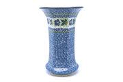 Ceramika Artystyczna Polish Pottery Vase - Large - Blue Pansy 052-1552a (Ceramika Artystyczna)