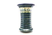 Ceramika Artystyczna Polish Pottery Vase - Large - Blue Spring Daisy 052-614a (Ceramika Artystyczna)