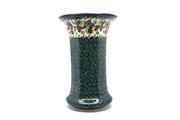 Ceramika Artystyczna Polish Pottery Vase - Large - Burgundy Berry Green 052-1415a (Ceramika Artystyczna)