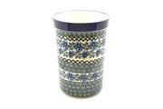 Ceramika Artystyczna Polish Pottery Wine Crock - Blue Chicory 169-976a (Ceramika Artystyczna)
