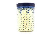 Ceramika Artystyczna Polish Pottery Wine Crock - Blue Clover 169-1978a (Ceramika Artystyczna)