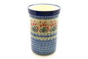 Ceramika Artystyczna Polish Pottery Wine Crock - Crimson Bells 169-1437a (Ceramika Artystyczna)