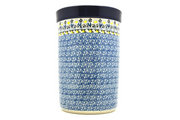 Ceramika Artystyczna Polish Pottery Wine Crock -Daisy Maize 169-2178a (Ceramika Artystyczna)