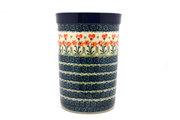 Ceramika Artystyczna Polish Pottery Wine Crock - Peach Spring Daisy 169-560a (Ceramika Artystyczna)
