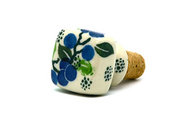 Ceramika Artystyczna Polish Pottery Wine Stopper - Blue Berries 832-1416a (Ceramika Artystyczna)