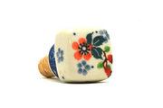 Ceramika Artystyczna Polish Pottery Wine Stopper - Cherry Blossom 832-2103a (Ceramika Artystyczna)