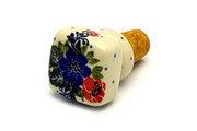 Ceramika Artystyczna Polish Pottery Wine Stopper - Garden Party 832-1535a (Ceramika Artystyczna)