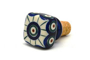 Ceramika Artystyczna Polish Pottery Wine Stopper - Peacock 832-054a (Ceramika Artystyczna)