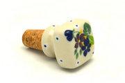 Ceramika Artystyczna Polish Pottery Wine Stopper - Plum Luck 832-2509a (Ceramika Artystyczna)