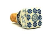 Ceramika Artystyczna Polish Pottery Wine Stopper - Silver Lace 832-2158a (Ceramika Artystyczna)