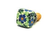 Ceramika Artystyczna Polish Pottery Wine Stopper - Sweet Violet 832-1538a (Ceramika Artystyczna)