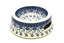 Ceramika Artystyczna Polish Pottery Pet Food/Water Dish - 12 oz. - Silver Lace