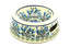 Ceramika Artystyczna Polish Pottery Pet Food/Water Dish - 12 oz. - Blue Bells