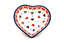 Ceramika Artystyczna Polish Pottery Tea Bag Holder - Heart - Love Struck