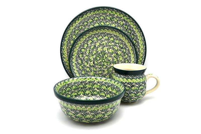 Ceramika Artystyczna Polish Pottery 4-pc. Place Setting with Standard Bowl - Irish Meadow S25-1888q (Ceramika Artystyczna)