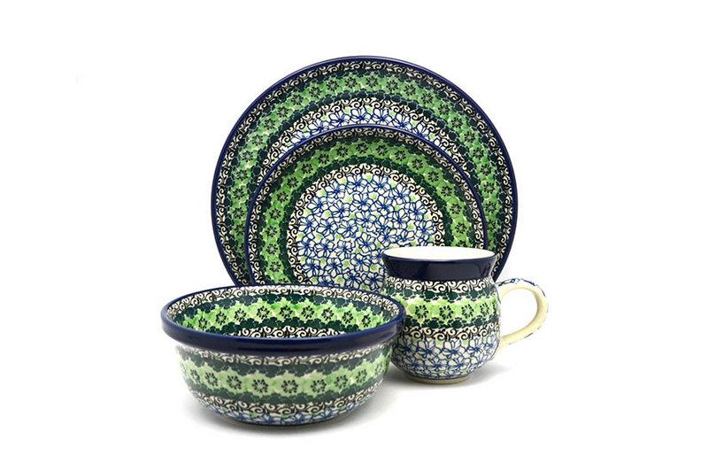 Ceramika Artystyczna Polish Pottery 4-pc. Place Setting with Standard Bowl - Kiwi S25-1479a (Ceramika Artystyczna)