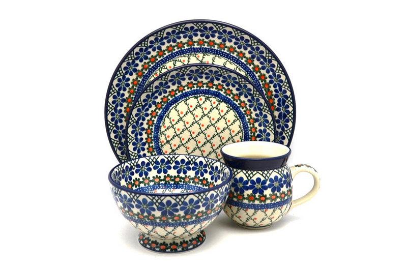 Ceramika Artystyczna Polish Pottery 4-pc. Place Setting with Standard Bowl - Primrose S25-854a (Ceramika Artystyczna)