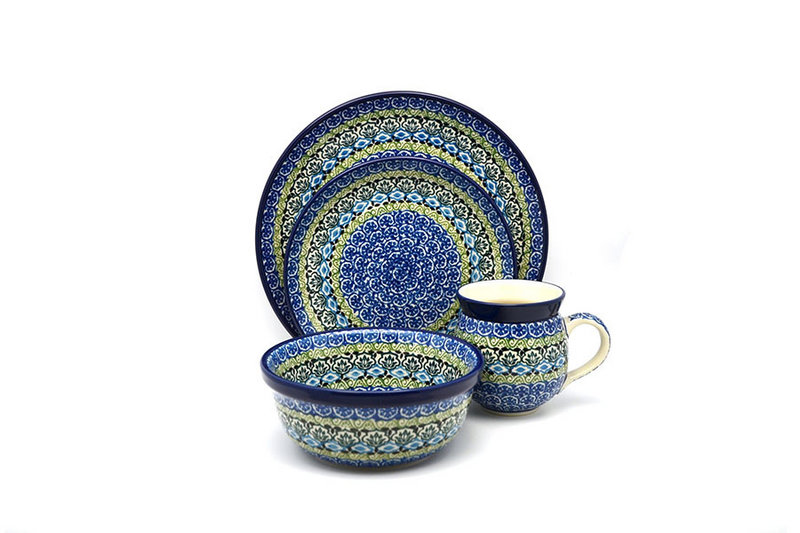 Polish Pottery 4-pc. Place Setting with Standard Bowl - Tranquility