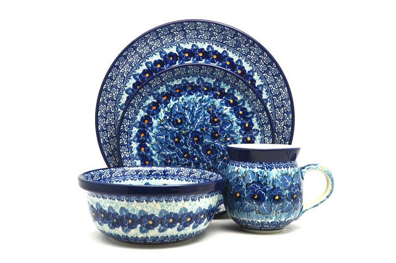 Ceramika Artystyczna Polish Pottery 4-pc. Place Setting with Standard Bowl - Unikat Signature - U3639 S25-U3639 (Ceramika Artystyczna)