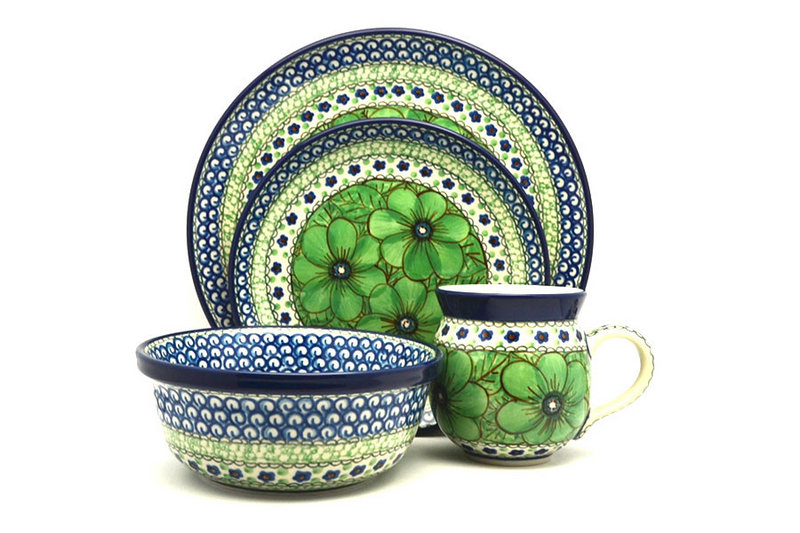 Ceramika Artystyczna Polish Pottery 4-pc. Place Setting with Standard Bowl - Unikat Signature - U408A S25-U408A (Ceramika Artystyczna)
