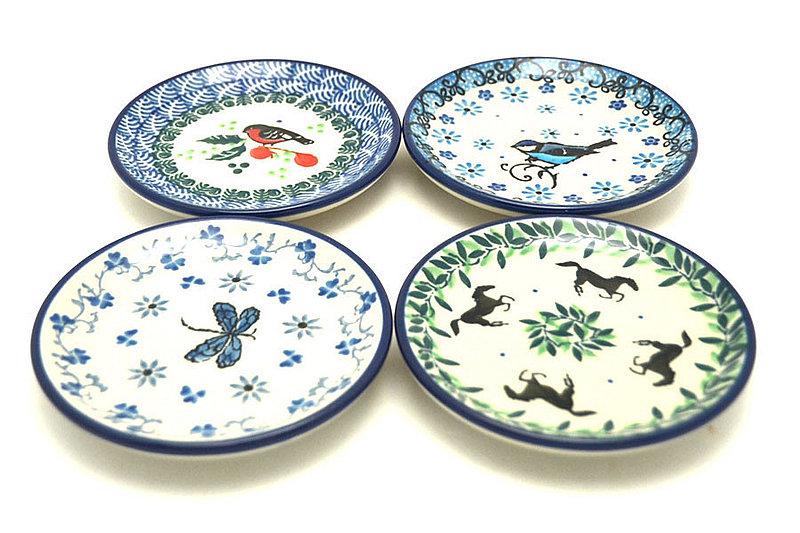 Ceramika Artystyczna Polish Pottery 4-Piece Coaster Set - The Best of Nature S26-1257a (Ceramika Artystyczna)