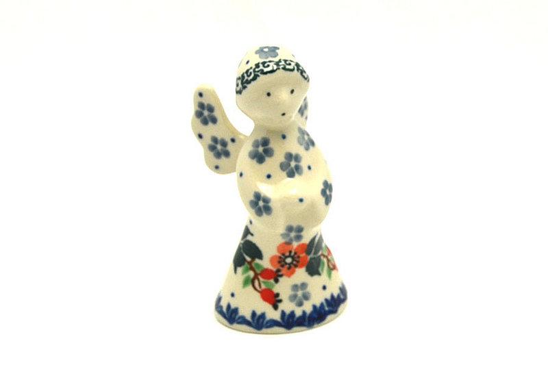 Ceramika Artystyczna Polish Pottery Angel Figurine - Small - Cherry Blossom C66-2103a (Ceramika Artystyczna)