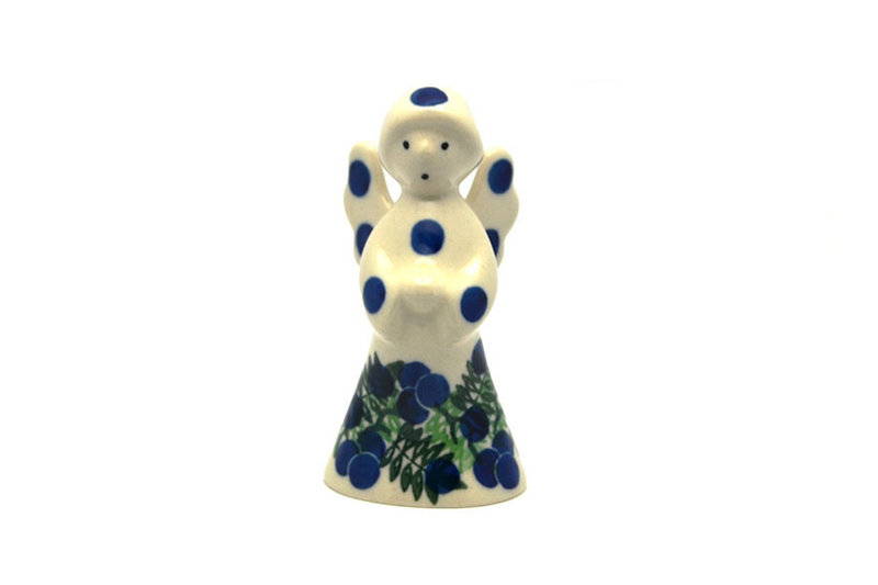 Ceramika Artystyczna Polish Pottery Angel Figurine - Small - Huckleberry C66-1413a (Ceramika Artystyczna)