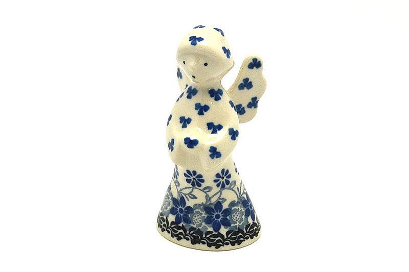 Ceramika Artystyczna Polish Pottery Angel Figurine - Small - Silver Lace C66-2158a (Ceramika Artystyczna)