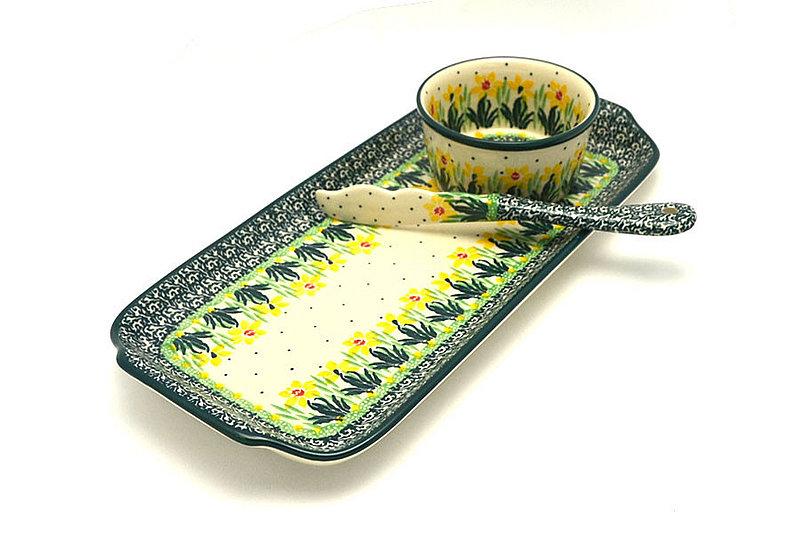 Ceramika Artystyczna Polish Pottery Appetizer Serving Set - Daffodil S41-2122q (Ceramika Artystyczna)