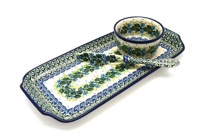 Polish Pottery Appetizer Serving Set - Ivy Trail