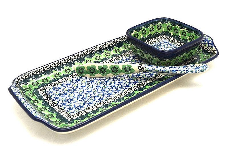 Ceramika Artystyczna Polish Pottery Appetizer Serving Set - Kiwi S41-1479a (Ceramika Artystyczna)
