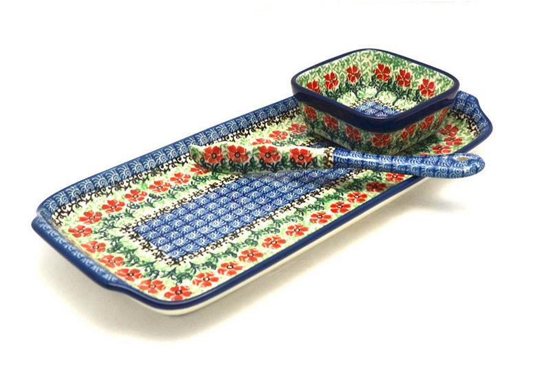 Ceramika Artystyczna Polish Pottery Appetizer Serving Set - Maraschino S41-1916a (Ceramika Artystyczna)