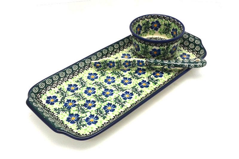 Ceramika Artystyczna Polish Pottery Appetizer Serving Set - Sweet Violet S41-1538a (Ceramika Artystyczna)