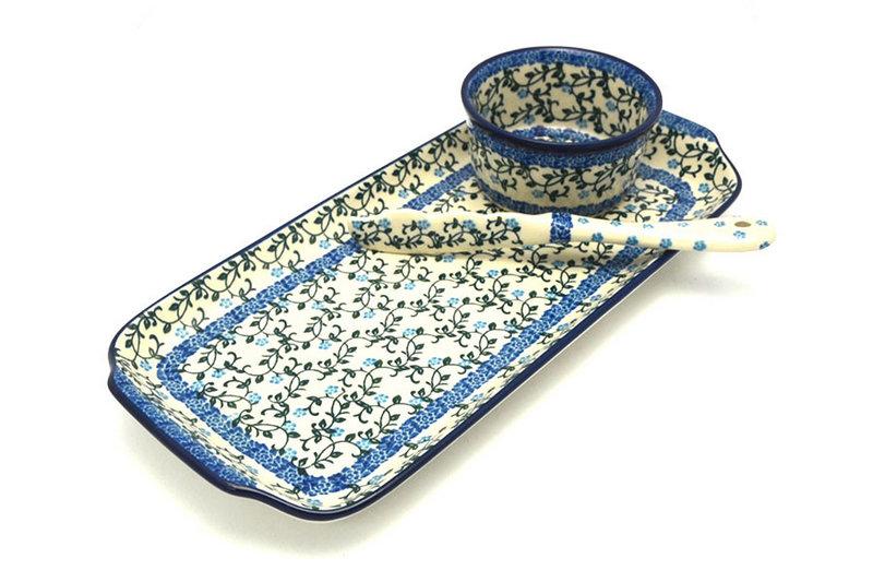 Ceramika Artystyczna Polish Pottery Appetizer Serving Set - Terrace Vines S41-1822a (Ceramika Artystyczna)