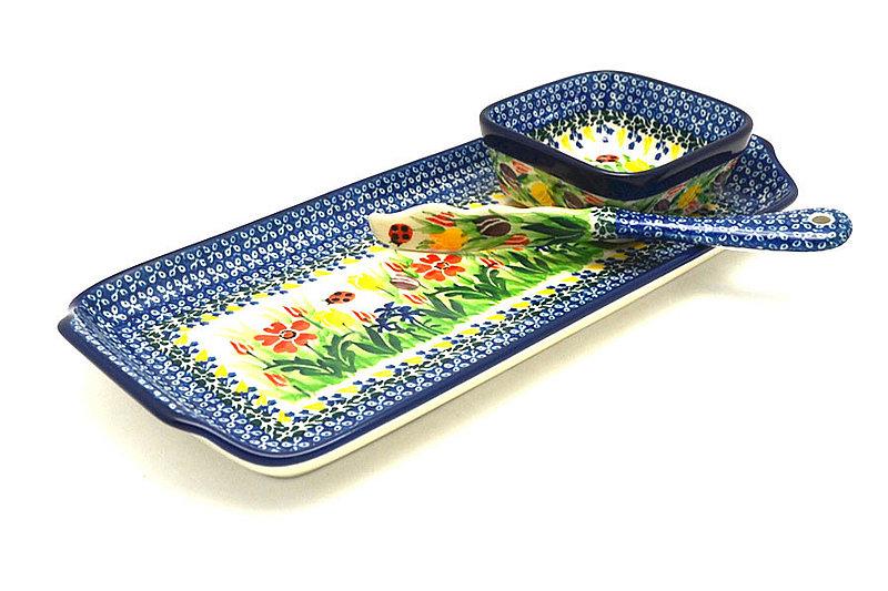 Ceramika Artystyczna Polish Pottery Appetizer Serving Set - Unikat Signature - U3787 S41-U3787 (Ceramika Artystyczna)