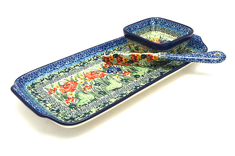 Ceramika Artystyczna Polish Pottery Appetizer Serving Set - Unikat Signature - U4400 S41-U4400 (Ceramika Artystyczna)