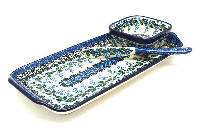 Ceramika Artystyczna Polish Pottery Appetizer Serving Set - Wisteria S41-1473a (Ceramika Artystyczna)