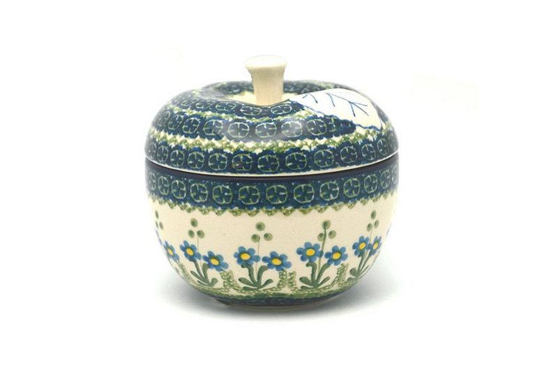 Ceramika Artystyczna Polish Pottery Apple Baker - Blue Spring Daisy 034-614a (Ceramika Artystyczna)