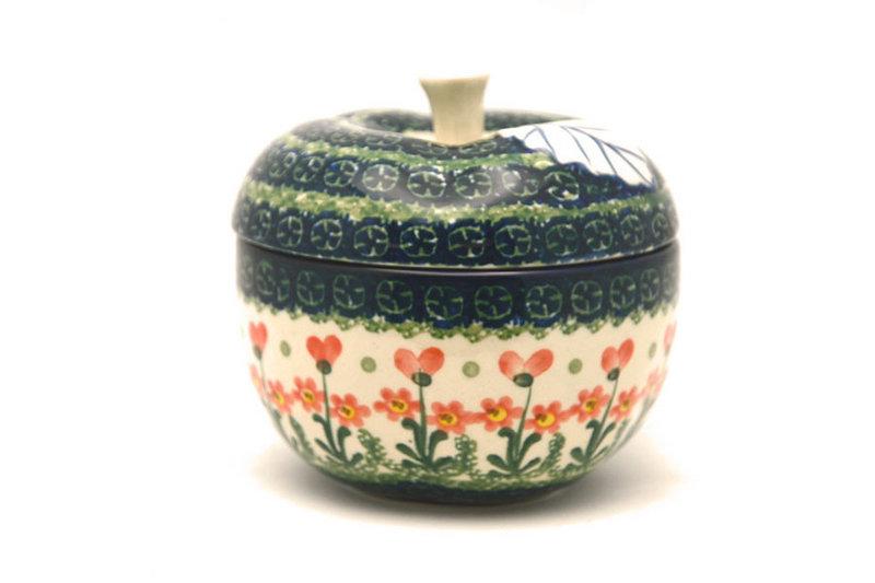 Ceramika Artystyczna Polish Pottery Apple Baker - Peach Spring Daisy 034-560a (Ceramika Artystyczna)