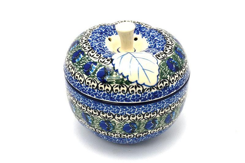 Ceramika Artystyczna Polish Pottery Apple Baker - Peacock Feather 034-1513a (Ceramika Artystyczna)