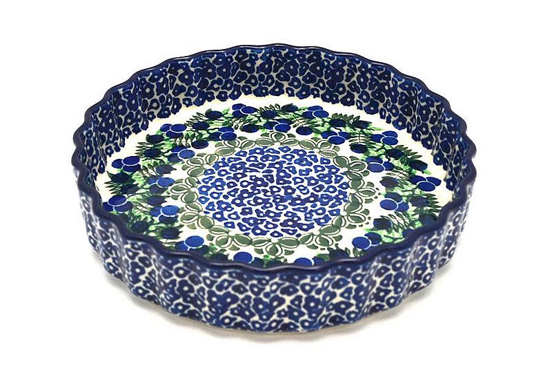 """Ceramika Artystyczna Polish Pottery Baker - Fluted Quiche - Small (7"""") - Huckleberry 910-1413a (Ceramika Artystyczna)"""