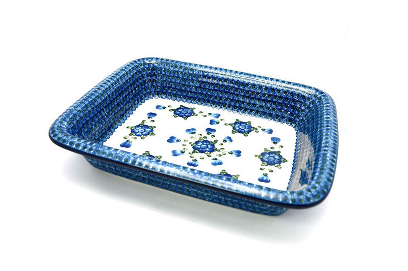 Polish Pottery Baker - Lasagna - Blue Poppy
