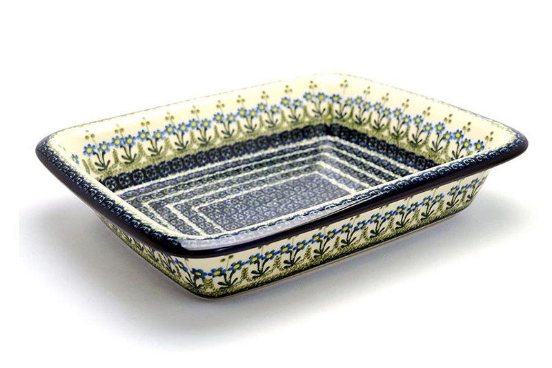 Polish Pottery Baker - Lasagna - Blue Spring Daisy