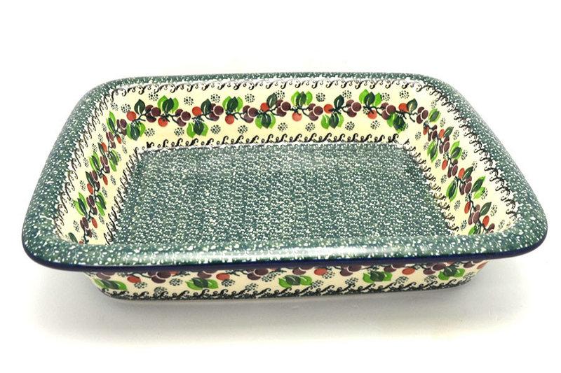 Ceramika Artystyczna Polish Pottery Baker - Lasagna - Burgundy Berry Green 854-1415a (Ceramika Artystyczna)