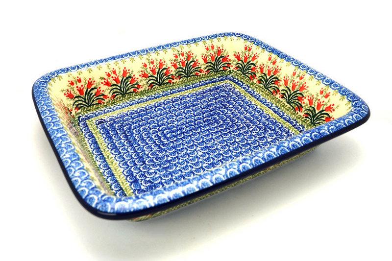 Ceramika Artystyczna Polish Pottery Baker - Lasagna - Crimson Bells 854-1437a (Ceramika Artystyczna)
